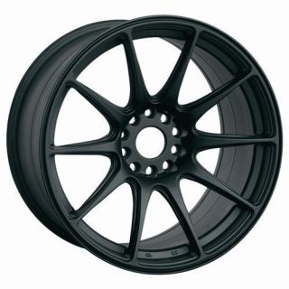 16 XXR 527 BLACK RIMS WHEELS 16x8.25 +0 4x100 MAZDA MIATA SCION XB XA