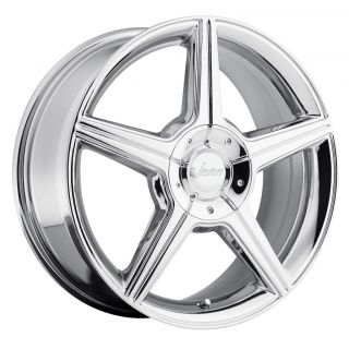 Chrome Wheels Rims 5x4 25 5x108 38 Continental LS Sable