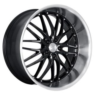 18 MRR GT1 Black Rims Wheels 18x8 5 45 5x112 Golf GTI