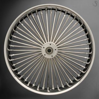Fat Spoke 21 Front Wheel Chrome 21 x 3 5 Dual Harley FLHR Road King