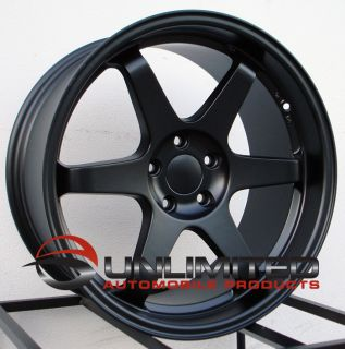 17X9 5 ET30 VARRSTOEN ES2 STYLE STAGGERED SET MATTE BLACK WHEELS RIMS