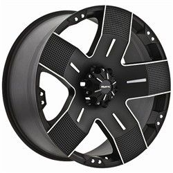 22 inch Ballistic Hyjak Black Wheels Rim Chevy Colorado