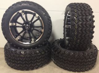 Fairway Alloys SIXER Wheels 14 23x10 14 Sahara Golf Tires 4 EZGO Club