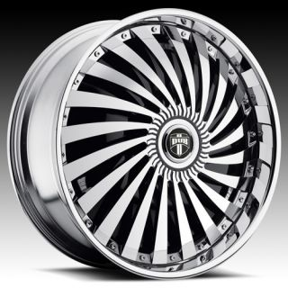 26 Dub Spin Swyrl Wheel Set Chrome Spinners 26x10 rwd 5 6 Lug Rims