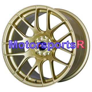 18 XXR 530 Gold Concave Rims Staggered Wheels Stance 03 07 Infiniti