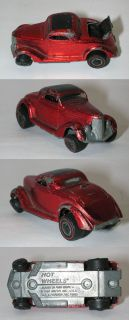 Redline Hotwheels Red 1969 Classic 36 Ford Coupe