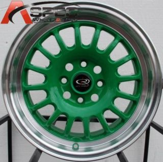 15 Rota Track R Wheels 4x100 Rim CRX Civic Integra XB