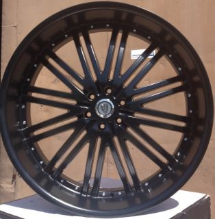 28 VER212 Matte Black Wheels Tires 6x139 7 Avalanche Tahoe Yukon 2007