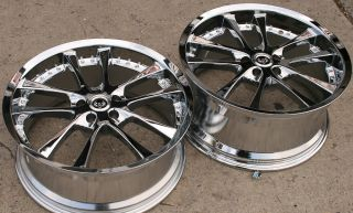 ST10 19 Chrome Rims Wheels Maxima Staggered 19 x 8 5 9 5 5H 38