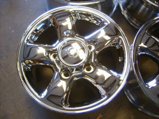 00 01 02 Toyota Land Cruiser 16 Chrome Alloy Wheels Rims 5x150