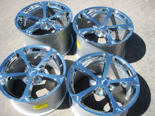 OF 4 18 19 FACTORY CHEVY CORVETTE Z06 GRAND SPORT CHROME WHEELS RIMS