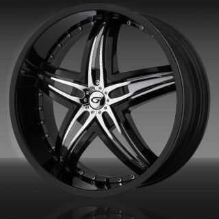 18 GIANNA BLITZ BLACK RIMS WHEELS 18x7.5 +45 5x100 SUBARU WRX IMPREZA