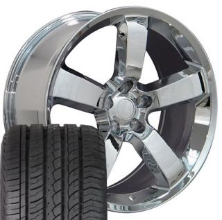 Chrome Charger SRT Wheels Set of 4 Rims 4 ZR Tires Fit Dodge