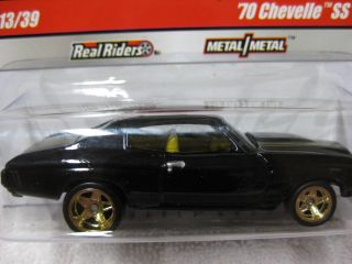 WHEELS PHILS GARAGE REAL RIDERS 70 CHEVY CHEVELLE SS BLACK 13 of 39