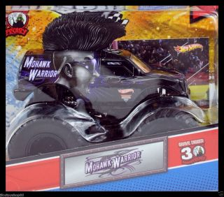 Hot Wheels Monster Jam Truck Mohawk Warrior with Topps Trading Card