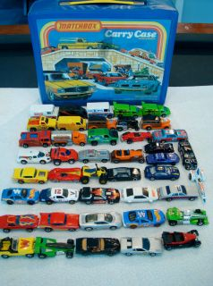 Vintage 43 Car Hot Wheels blackwall Lot Others in 1978 Matchbox Case