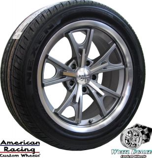 17 GRAY AMERICAN RACING WHEELS & 215 275 TIRES FOR CHEVY CAMARO 1967