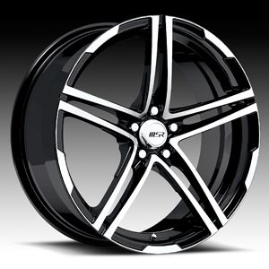 MSR 048 Rims Wheels 18 Black ion Sky Cobalt HHR G6 GXP