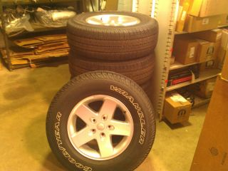 Set of 5 Brand New Jeep Wrangler Wheels and Tires