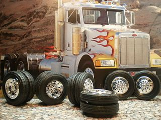 25 Model Big Rig Chrome Wheels Tires Semi Tractor Trailer Truck