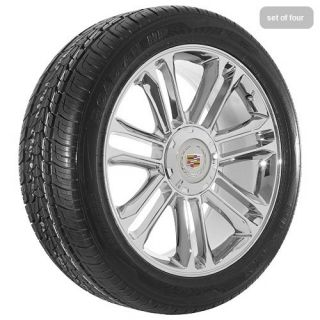 Cadillac 2009 Escalade platinum edition chrome wheels rims and tires