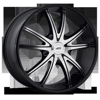 Racing Black AR897 5x5 Grand Cherokee SRT8 Pacifica Rims Wheels