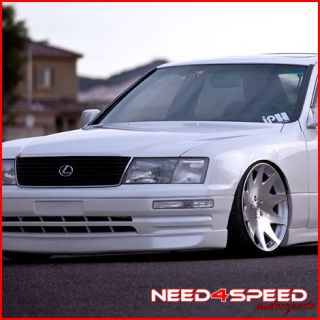 20 Lexus LS400 MRR HR 3 Chrome Staggered Rims Wheels