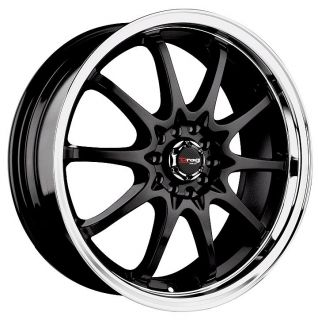 17 Drag DR9 Black Wheels Rims Dodge Neon Lancer Elantra