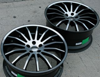Giovanna Martuni 20 Black Rims Wheels M45 Staggered