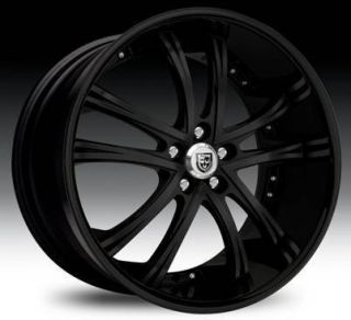 55 Staggered Wheel Set 22x10 22x9 0 Full Black Lexani Rims 5LUG
