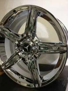 Triple Chrome Mercedes AMG Factory OE Wheels Rims C55 C63 19x8 5 5x112