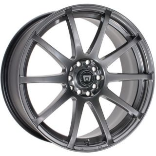 18 Inch Wheels Rims Motegi Racing Hyper Black SP10 Honda Civic Accord