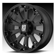 XD Series Black 8x6 5 Misfit Rims Chevy Dodge 2500 8 Lug Truck WHEELS