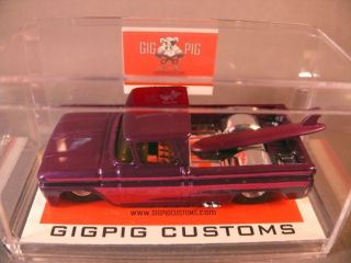 62 Chevy Pickup House of Kolor Purple Pearl Hot Wheels GigPig Customs