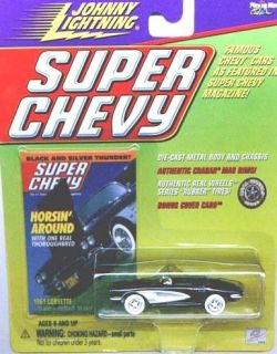 / JOHNNY LIGHTNING   SUPER CHEVY   61 CORVETTE   W/RUBBER TIRES