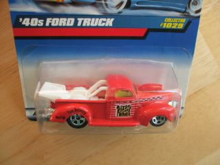 1999 Hot Wheels 1940s Ford Drag Racing Truck Fast Delivery with Chrome