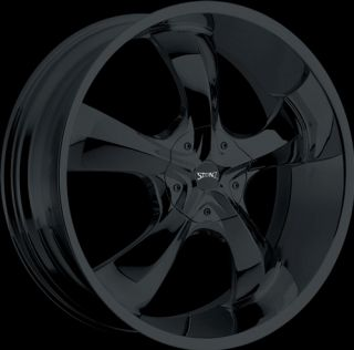 24 inch Stonz S04 Black Wheels and Tires Dodge Durango 2011 and Up