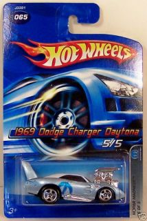 Hot Wheels 1969 Dodge Charger Daytona Blue 1 64