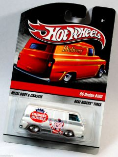 HOT WHEELS DELIVERY SERIES REAL RIDERS   DUBBLE BUBBLE   1966 66 DODGE