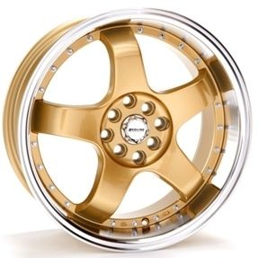 17 inch Redline 123 Gold Rims Tires Lexus Cadillac Camry Civic Accord