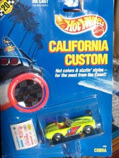 HOT WHEELS CLASSIC SHELBY COBRA 427 SC CALIFORNIA CUSTOM SERIES BW