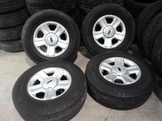 Factory 17 Ford F150 Aluminum Wheels and Continental 265 70R17 Tires