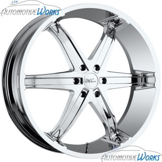 Milanni Kool Whip 6 5x120 65 5x4 75 18mm Chrome Wheels Rims Inch 20