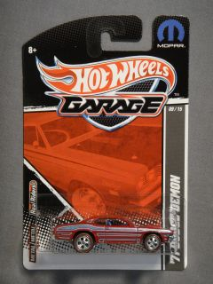 HOT WHEELS GARAGE REAL RIDERS MOPAR 71 DODGE DEMON #9 DIECAST CAR RED