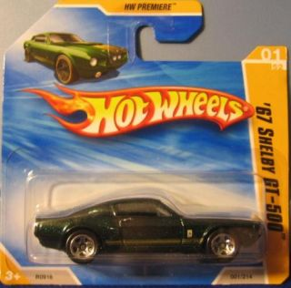 Hot Wheels  67 Shelby GT500 on Short Card Green U