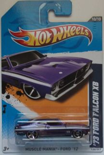 2012 Hot Wheels 73 Ford Falcon XB Col 120 Purple Version