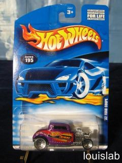 HOT WHEELS 32 FORD COUPE COLLECTOR NO. 195      HOTWHEELS
