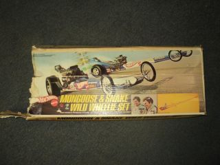 1970 Mattel Hot Wheels Redline Era Mongoose and Snake Wild Wheelie Set