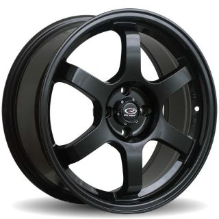 16 ROTA GRID BLACK RIMS WHEELS 16x7 40 4x100 CIVIC INTEGRA MINI COOPER