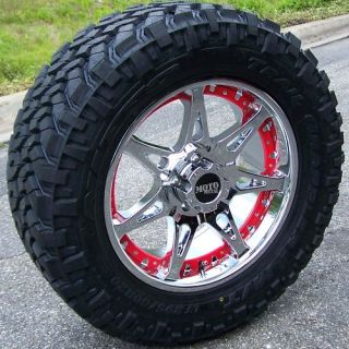 20 CHROME MOTOMETAL 961 WHEELS & NITTO TRAIL GRAPPLER TIRES TOYOTA